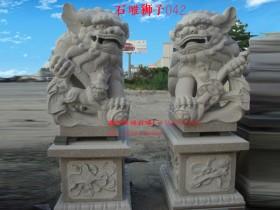 门口摆放石雕狮子如何走向民间